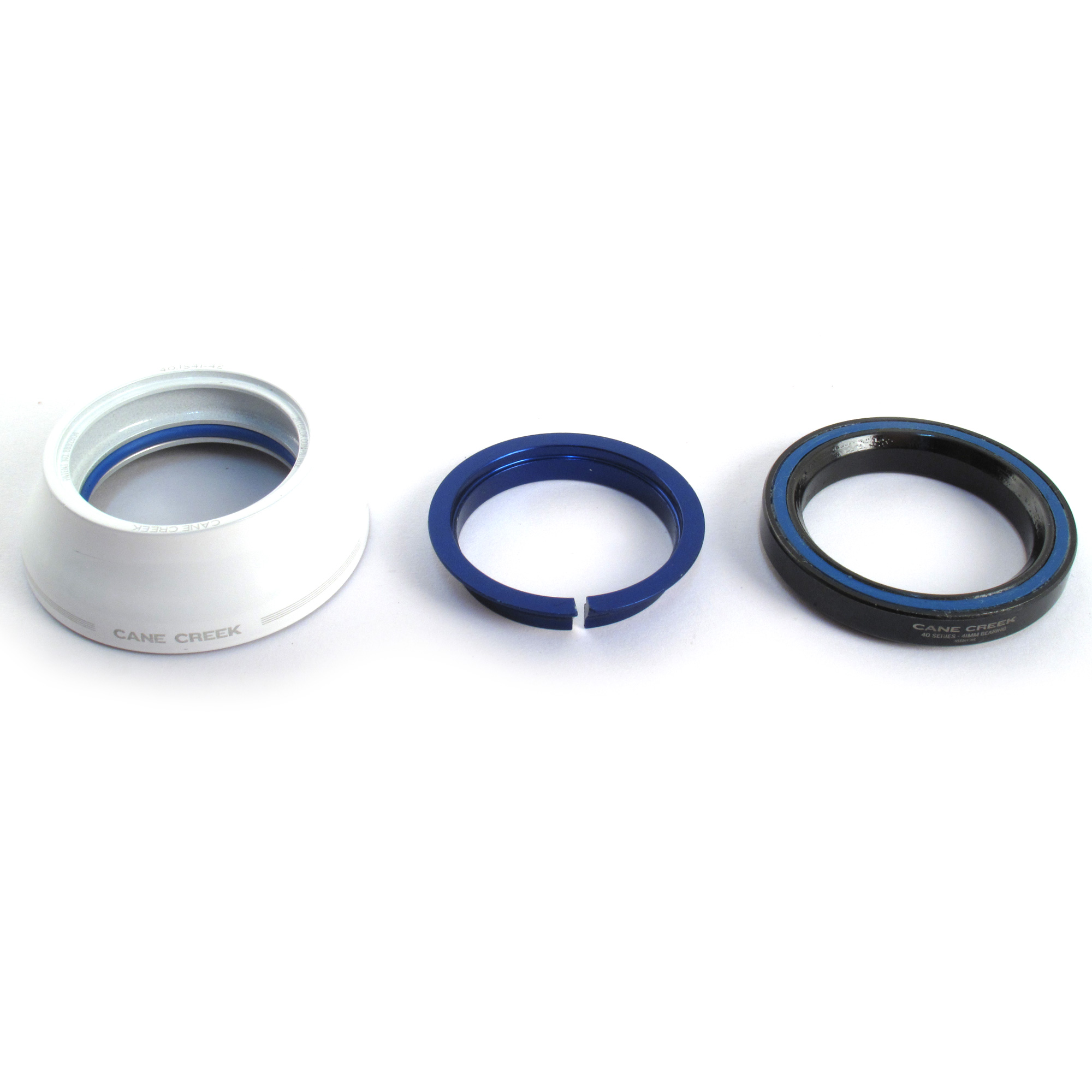 """Cane Creek IS41 1-1//8/"""" Upper Headset Assembly Tall White Alloy 40-Series Bearing"""