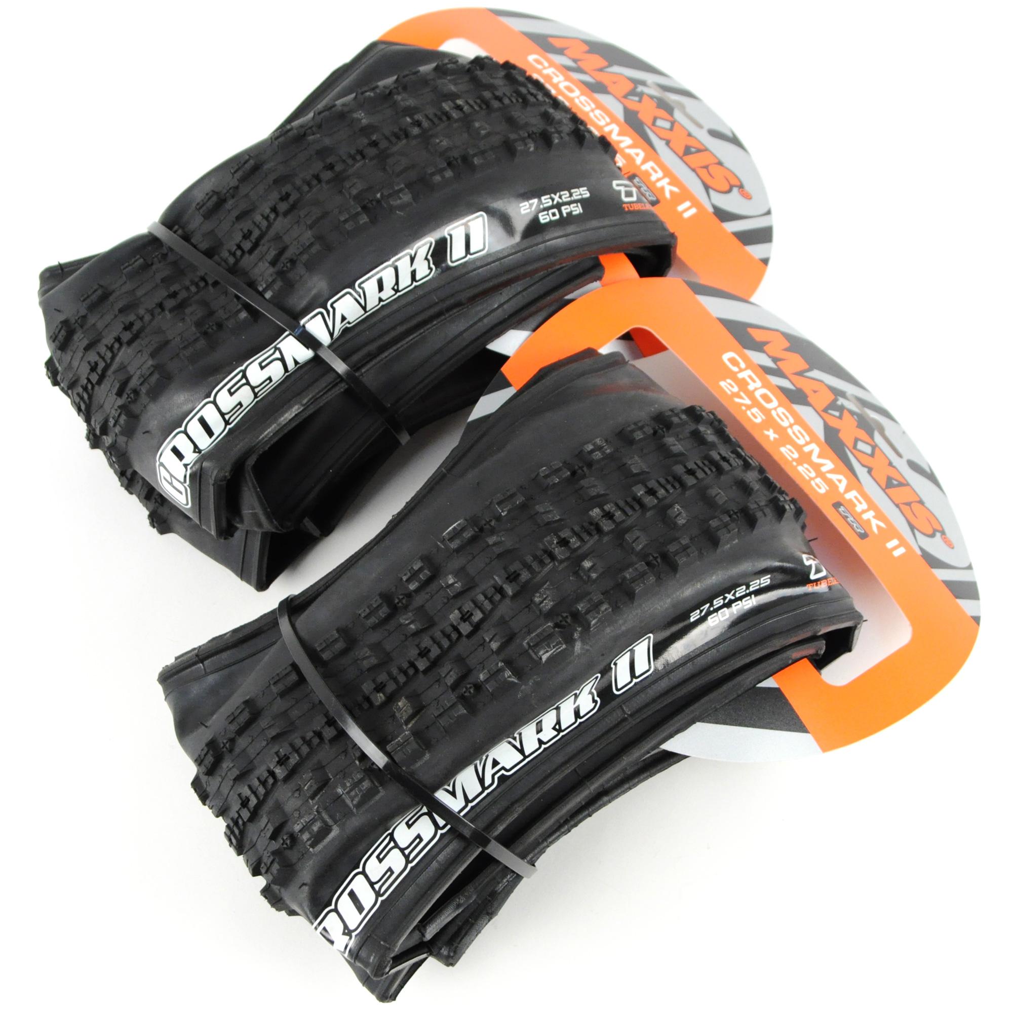 Maxxis Crossmark 27.5 x 2.25 Folding 60 TPI TR DC Black Mtn Bike Tire NEW!