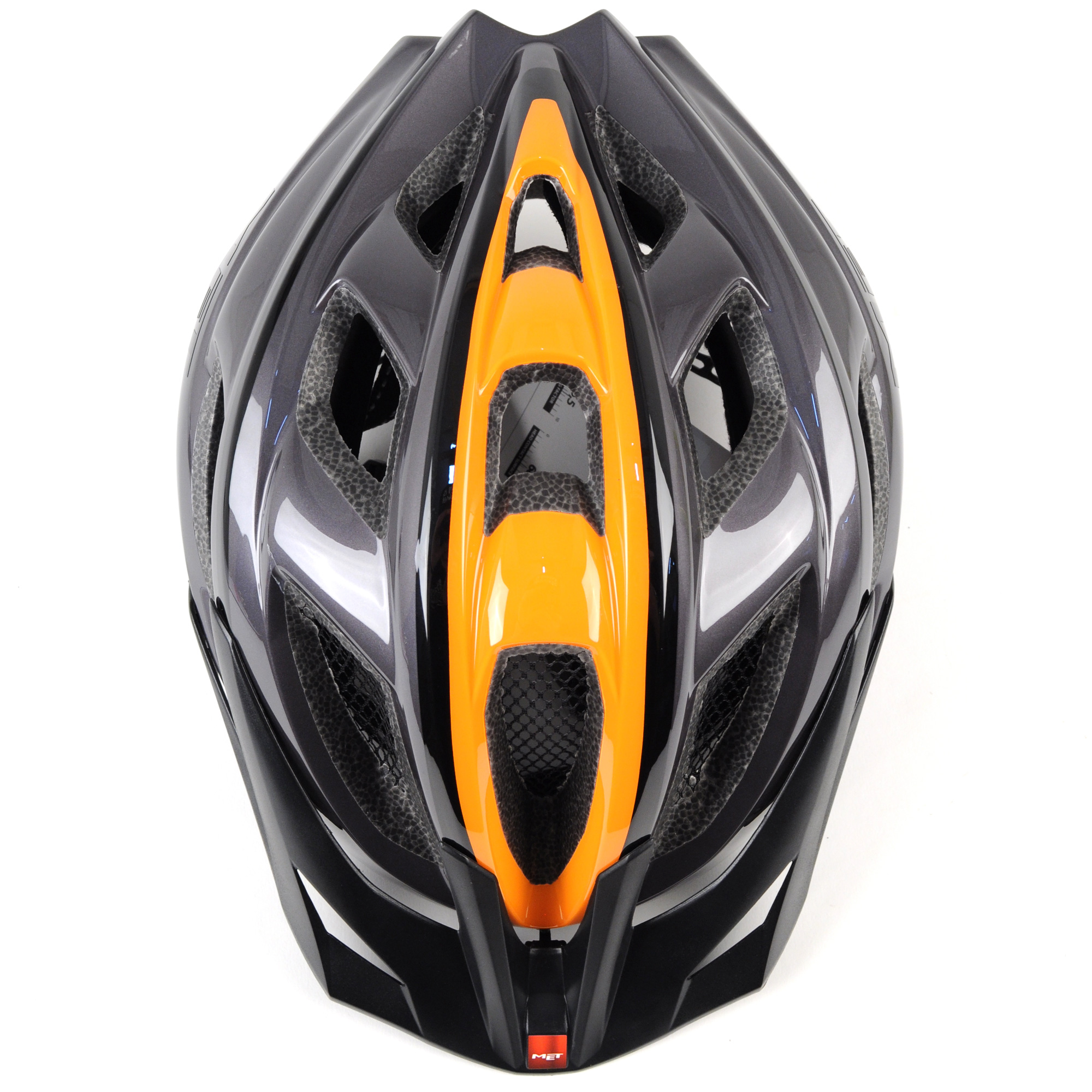 MET Funandgo Bike Helmet //// Anthracite//Orange //// Universal
