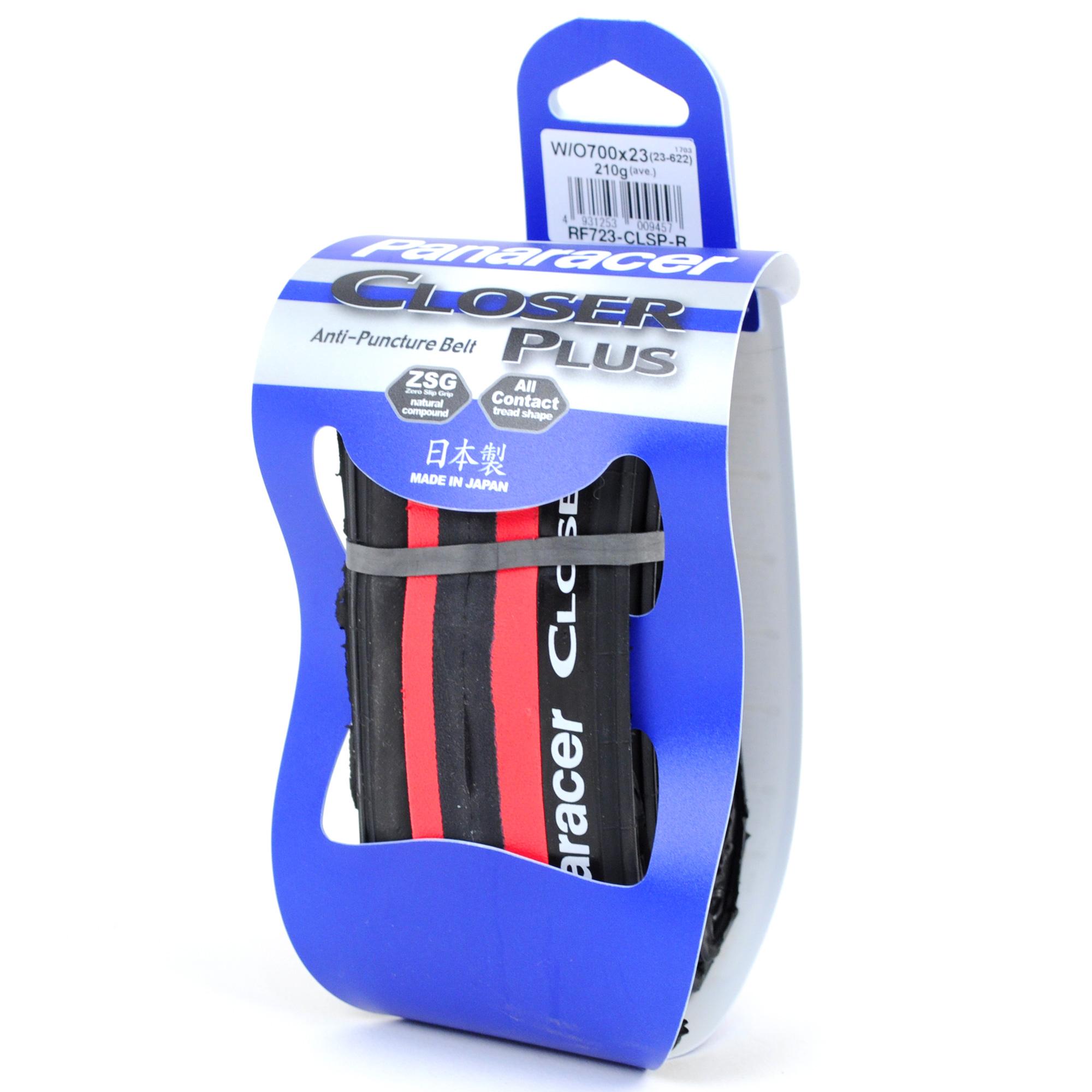 Panaracer Closer Plus PT Road Bike Tire //// 700x23c //// Folding //// Black//Red
