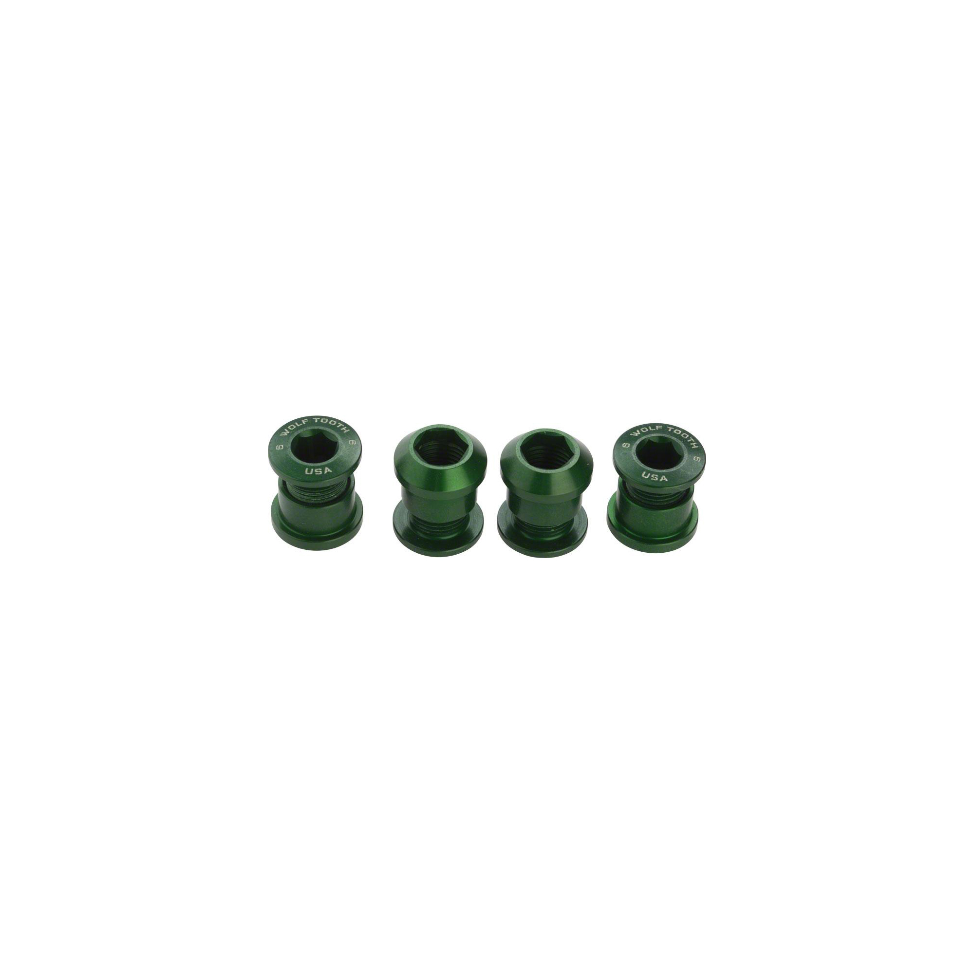 Wolf Tooth Set of 4 Chainring Bolts for 1x use Dual Hex Fittings Black