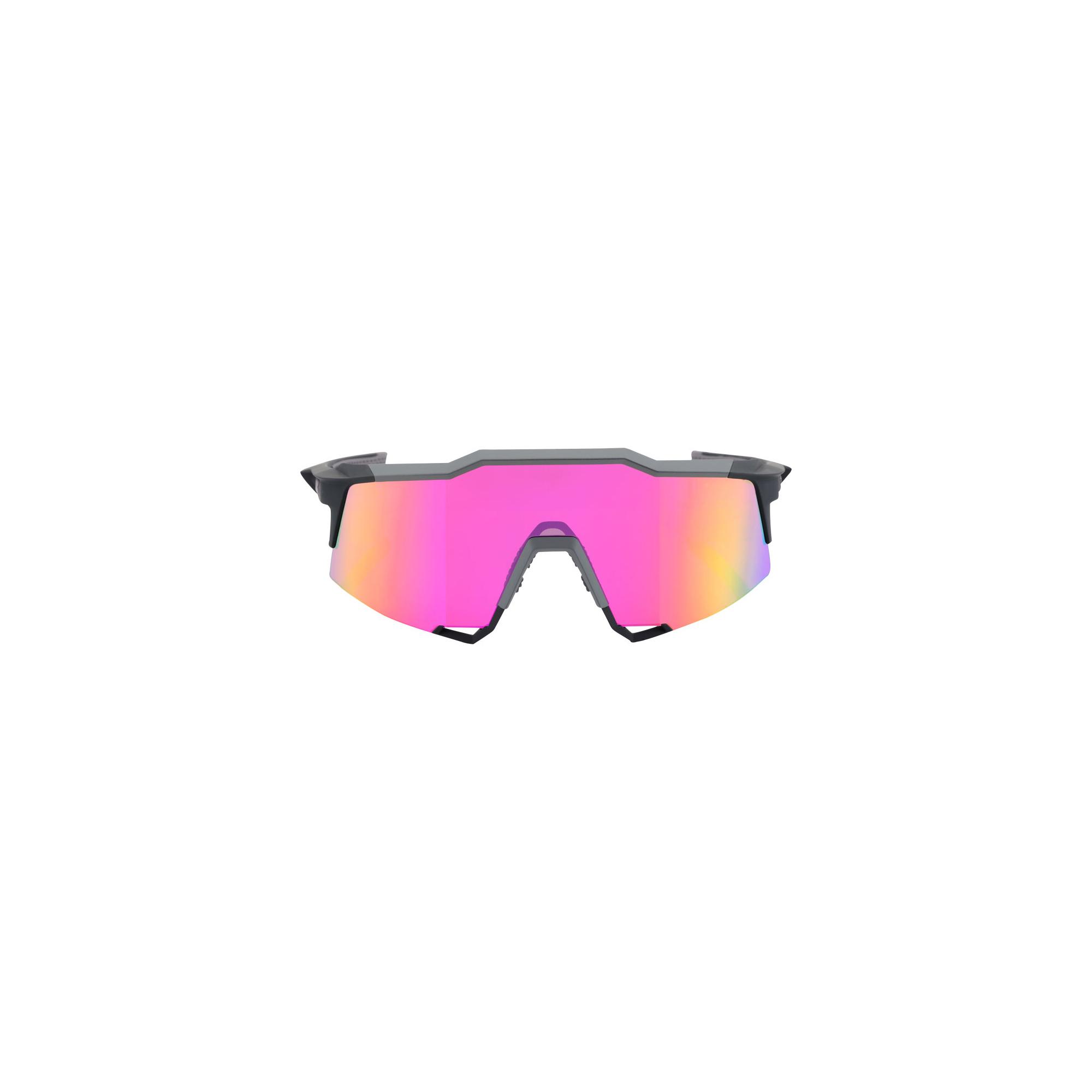 100/% 100/% Cyclisme Lunettes de soleil Speedcoupe Graphite Violet Miroir