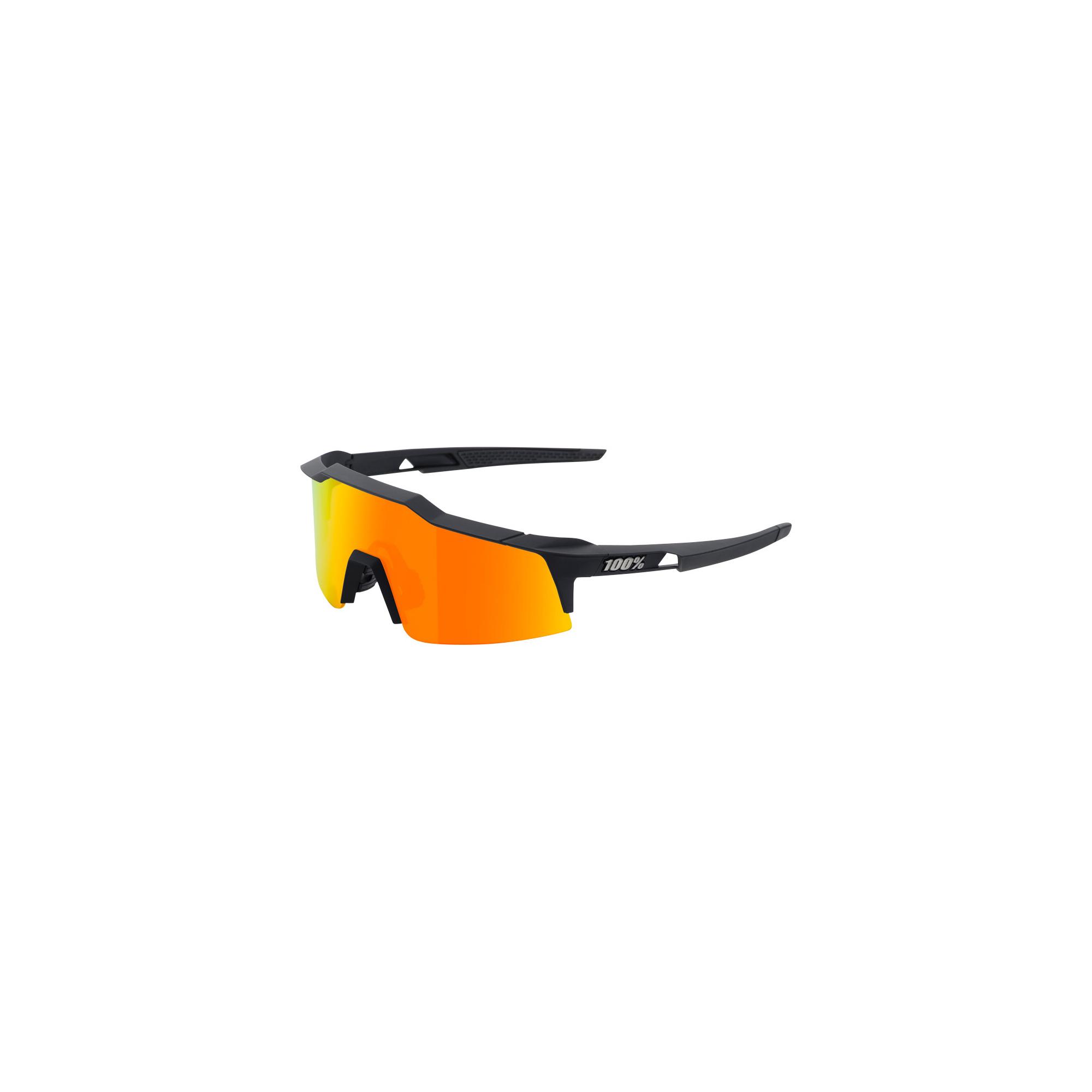 2a236a1b95f Details about 100% Speedcraft SL Sunglasses Black HiPER Red Multilayer  Mirror Lens