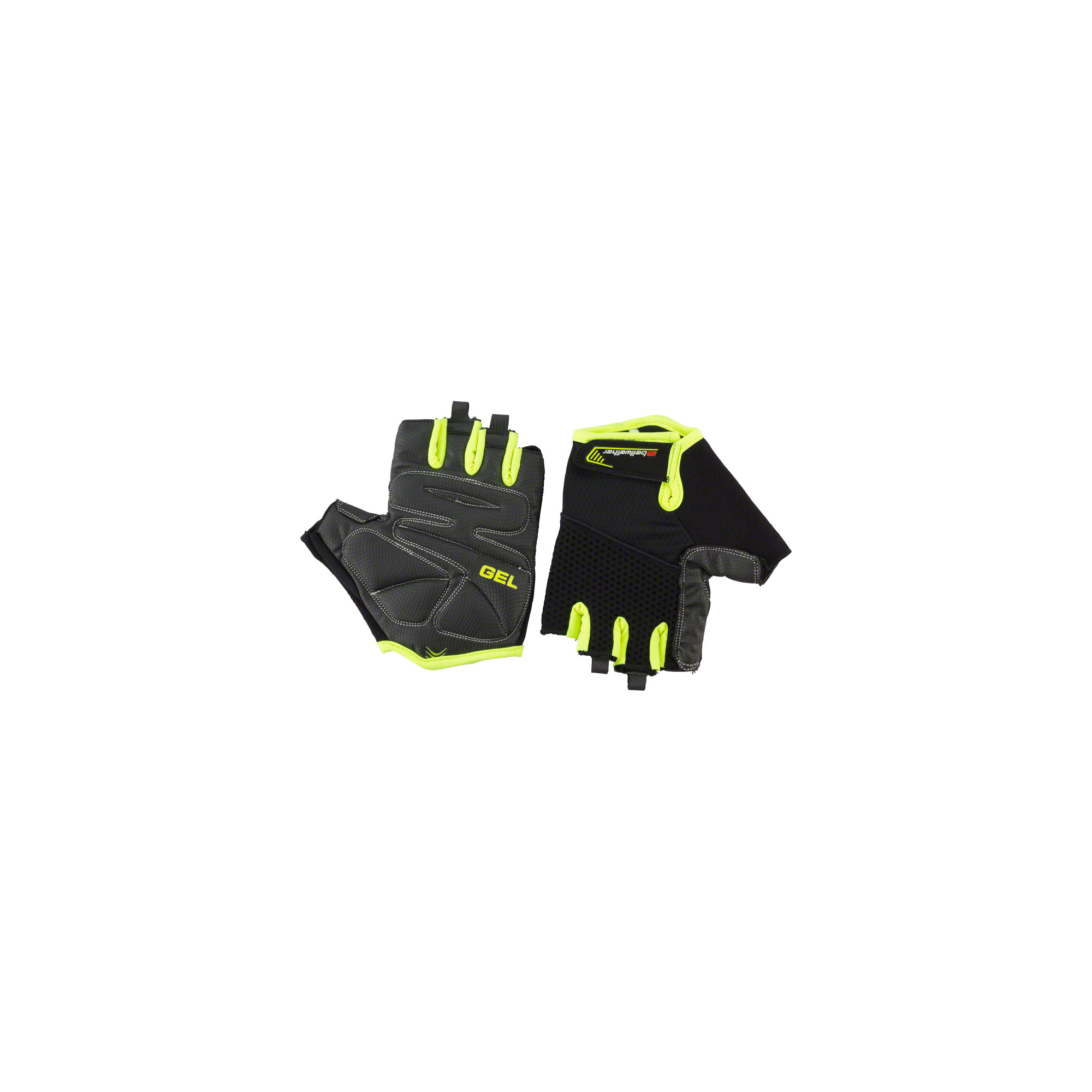 Details About Bellwether Gel Supreme Men S Short Finger Glove Hi Vis Md