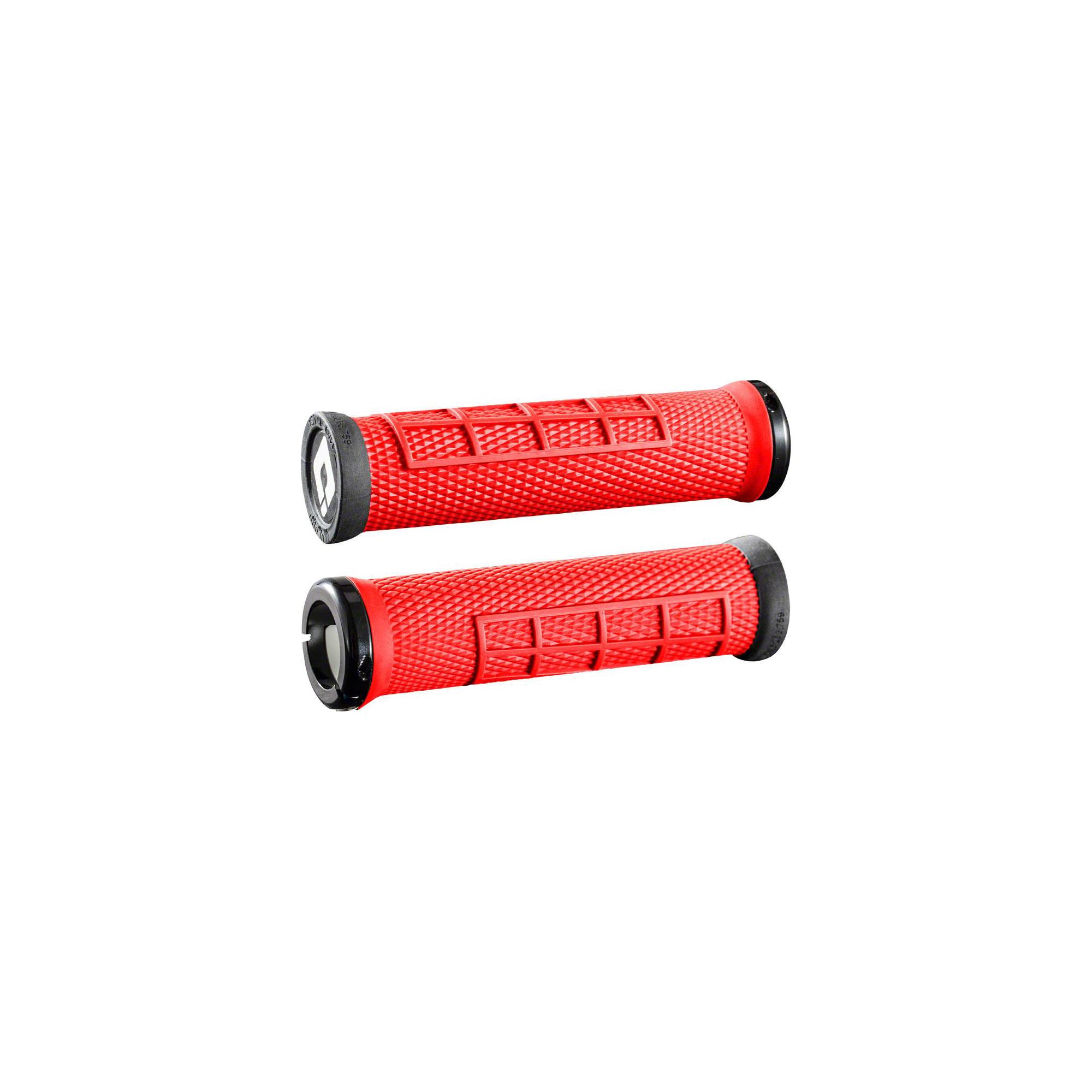 "ODI /""O/"" Grip 144mm BMX Grip Pair~ Red"