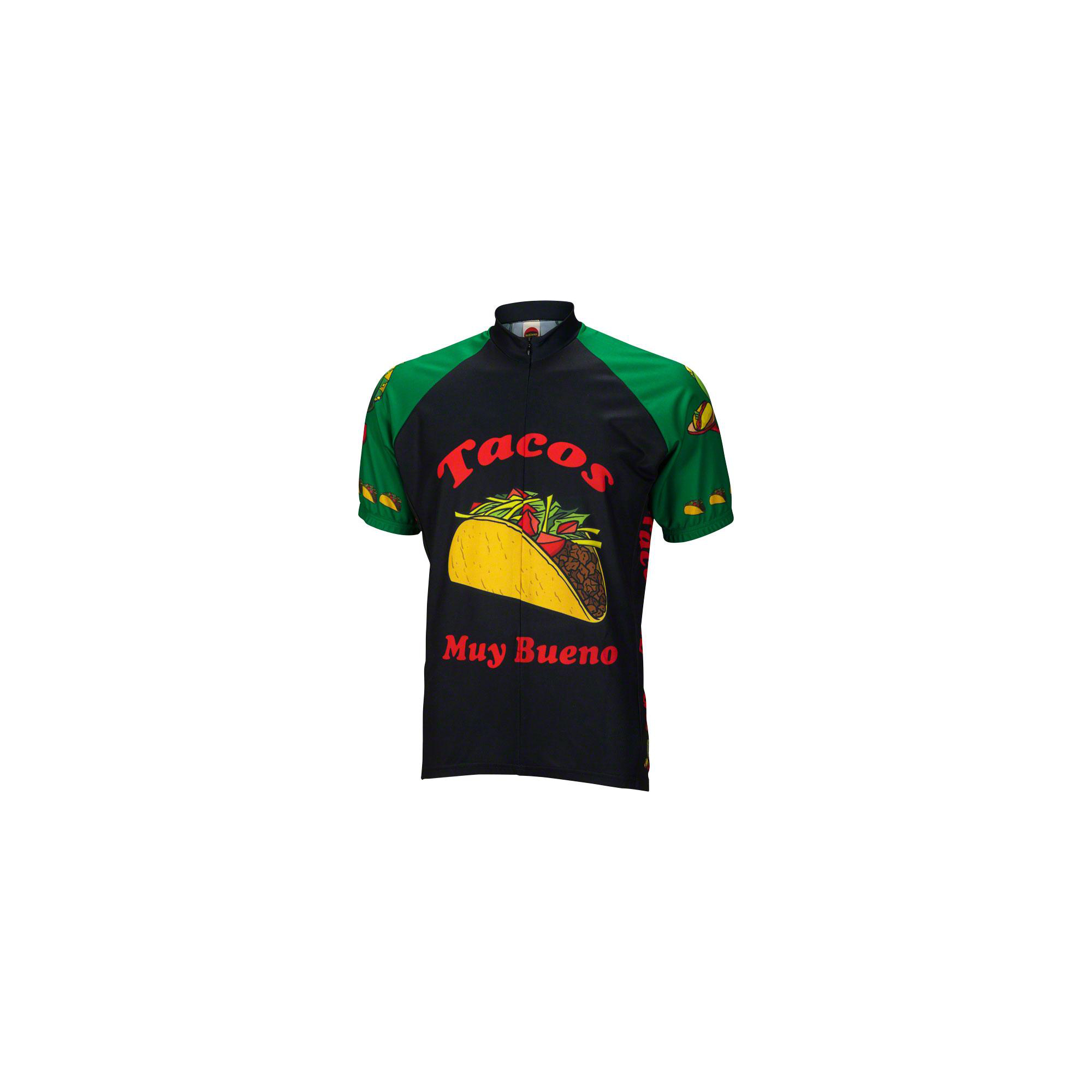 Details about World Jerseys Taco Tuesday Men s Cycling Jersey  Black Green e1ea99702