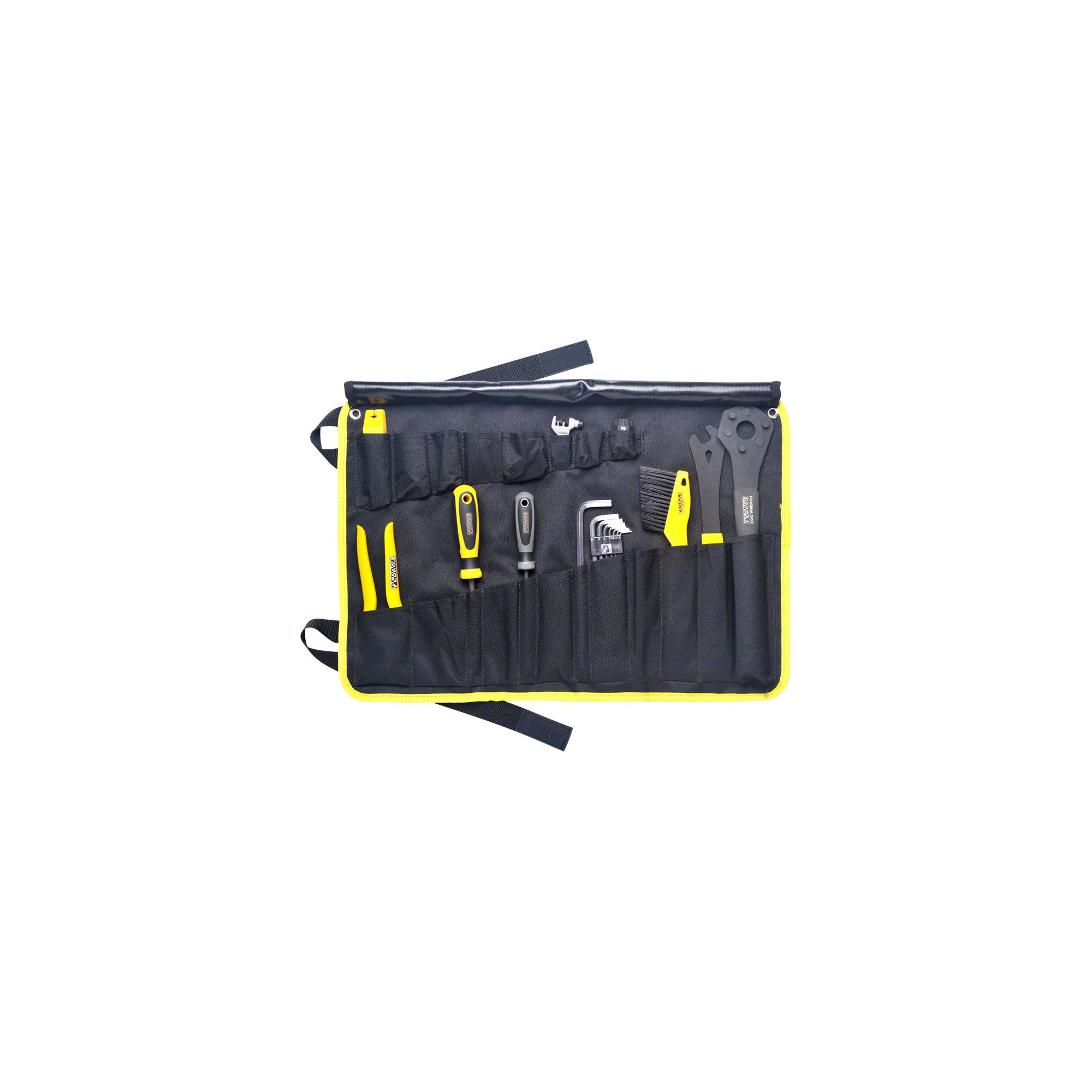 PEDRO/'S STARTER TOOL KIT INCLUDING 19 TOOLS AND TOOL WRAP BICYCLE TOOL